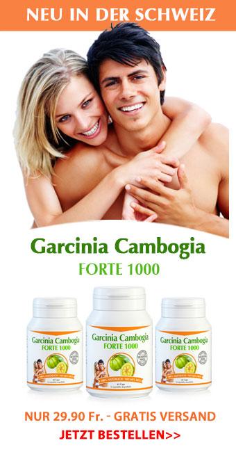 Garcinia Cambogia Forte 1000 mg in bester Qualität - Jetzt kaufen!