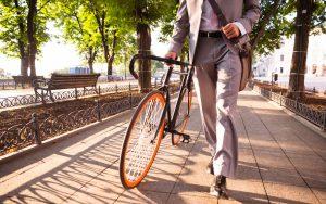 Mit dem Fahrrad zur Arbeit - Bewegung ist wichtig für unser Wohlbefinden