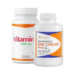 Fitnessfood Zinc Chelate + Vitamin C. Jetzt bestellen!