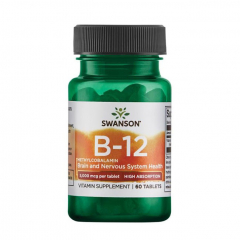 Vitamin B-12 Methylcobalamin (Cherry) 5000 mcg 60 Tabletten